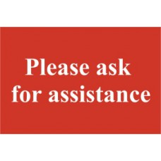 Please ask for assistance - PVC (300 x 200mm)
