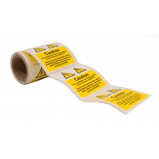 Caution Mixed Cable Notice - 100 Roll SAV (75 x 75mm)