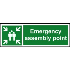 Emergency assembly point - RPVC (600 x 200mm)