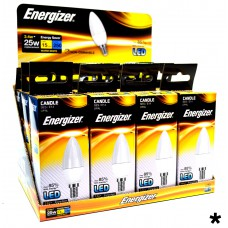 Energizer - LED Bulb - Candle 3.5W 250LM Opal E14 Warm White