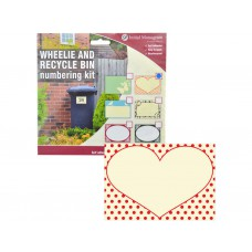 Wheelie & Recylce Bin Loveheart Decal