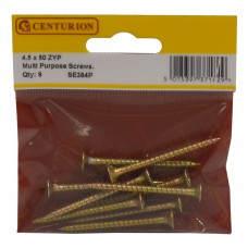 4.5mm x 50mm ZYP Multi Purpose Single Thread Countersunk Pozi Screws (Pack of 9)