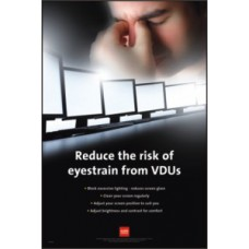 RoSPA Safety Poster - Reduce the risk of eyestrain from VDU's (Laminated)