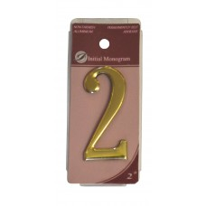 "2"" Gold Effect Numeral 2"