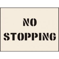 No Stopping Stencil - 300 x 400mm