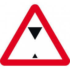 600mm tri. Dibond 'Height Restriction...' Road Sign (without channel)