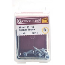 38mm ZP Corner Brace (Pack of 2)