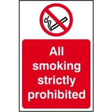 All smoking strictly prohibited - RPVC (200 x 300mm)