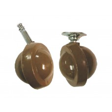 45mm Furniture Plate Fix Castors  (Pack of 2)