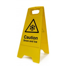 Heavy Duty A-Board - 'Caution Snow and Ice'