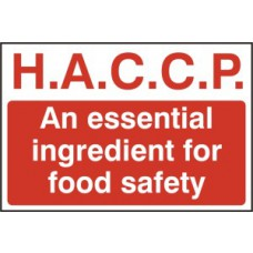 H.A.C.C.P An essential ingredient for food safety - PVC (300 x 200mm)