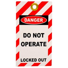 Lockout Tag with eyelet - Do not operate/Locked Out (Double Sided, Pack10 Tags)