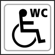 Disabled WC graphic - Taktyle (150 x 150mm)