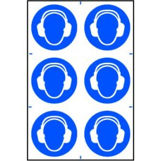 Ear protection symbols - PVC (200 x 300mm)