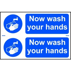 Now wash your hands - PVC (300 x 200mm)