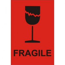 Fragile - Paper Packaging Labels (100 x 150mm Roll of 1000)