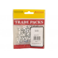 Cable Clip - White - 4mm (100 PK)