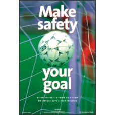 RoSPA Safety Poster - Make safety your goal (Laminated)