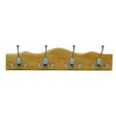 *TEMP OUT OF STOCK* 4 CP Tri-Hooks On Scallop Top Pine Board Due Late April 2018