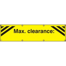 Max clearance:  - (with seperate arrow) BAN (1200 x 300mm)