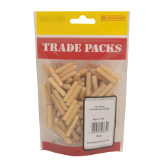 Fluted Wooden Dowels - Wood - M6 x 30mm (150 PK)