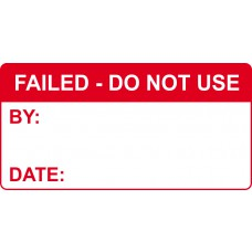 FAILED Do not use - Labels (50 x 25mm Roll of 250)