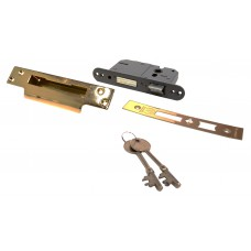 "63mm (2.5"") Brassed 5 Lever BS3621 Mortice Sash Lock"