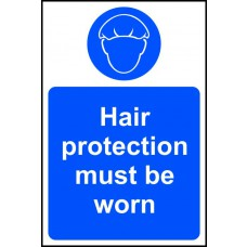 Hair protection must be worn - RPVC (200 x 300mm)