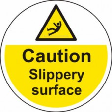400mm dia. Caution Slippery surface Floor Graphic