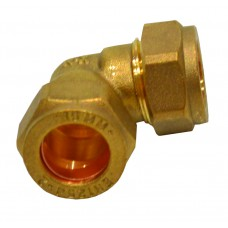 "15mm x 1/2"" BSP Compression Bent Swivel Tap Connector"