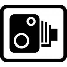 350 x 300mm Dibond 'Speed camera symbol only' Road Sign (with channel)