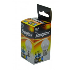 Energizer - LED Bulb - Golf 3.5W 250LM Opal B22 Warm White