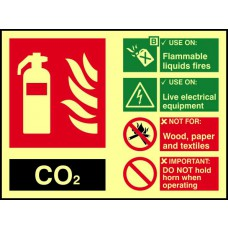 Fire extinguisher composite - CO2 - PHS (200 x 150mm)