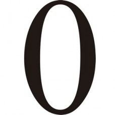 51mm Black Traditional Oldstyle Font Vinyl Number 0   (Pack of 10)