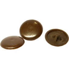 Brown Pozi Screw Cover Caps (Pack of 25)