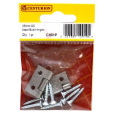 25mm SC 1838 Pattern Steel Butt Hinge (1 pair)