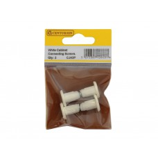 White Cabinet Connecting Screws (Pack of 2)