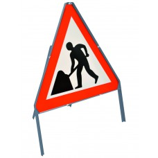 600 x 450mm Road Sign Stanchion - Double sided