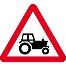 600mm tri. Dibond 'Agricultural vehicles likely to be in road ahead' Road Sign (with channel)