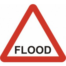 600mm tri. Temporary Sign & Frame - FLOOD
