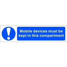 Mobile devices must be kept in this compartment - SAV (200 x 50mm) Pack of 2