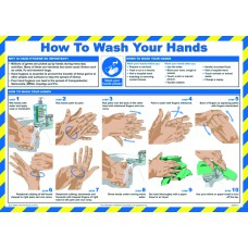 Safety Poster - How to wash your hands - LAM 590 x 420mm