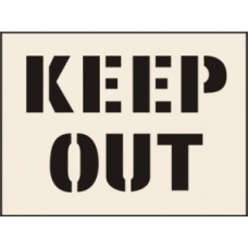 Keep Out Stencil (600 x 800mm)