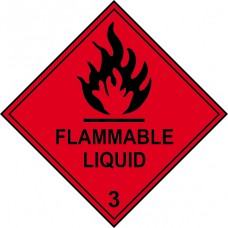 Flammable Liquid 3 - Labels (100 x 100mm Roll of 250)