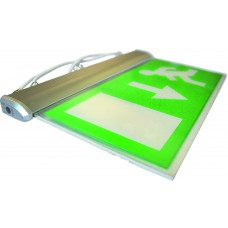 Emergency LED Suspended Panel - Non Maintained  with chain & up arrow fascia