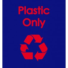 Warehouse Recycling Sack 'Plastic Only' - (920 x 1000mm)