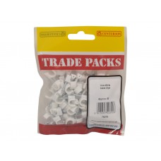 Cable Clip - White - 7mm (80 PK)