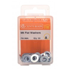 M6 ZP Flat Washers (Pack of 30)