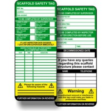 Scaffold Tag Inserts (Pack of 10)
