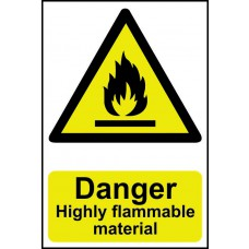 Danger Highly flammable material - PVC (200 x 300mm)